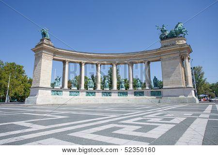 Millenium Monument In Budapest