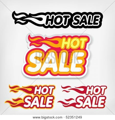 Hot sale icon design template. Hot sale sign.