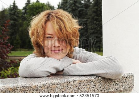 Girl with pensive smile!