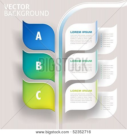 infographics nature leaves concept - vector