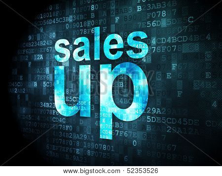 Marketing concept: Sales Up on digital background