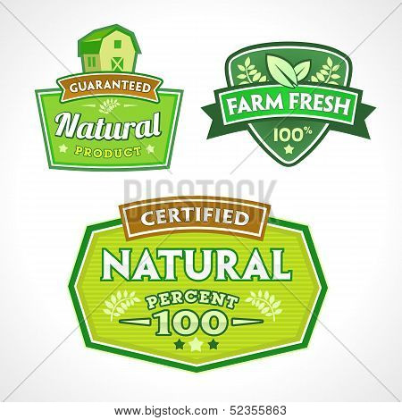 Set Of Organic-bio-natural  Labels