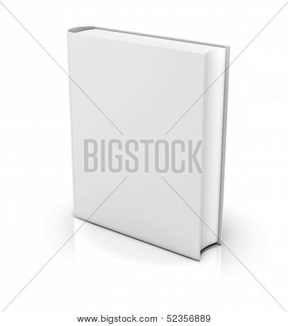Blank White Book Cover