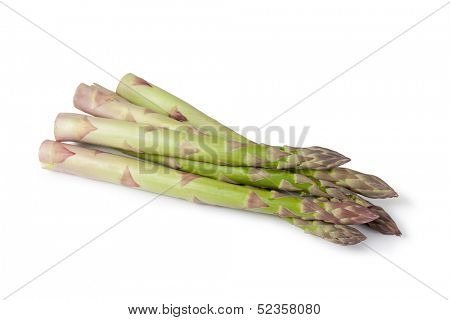 fresh asparagus on a white background
