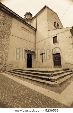 Church In Sepia Tone