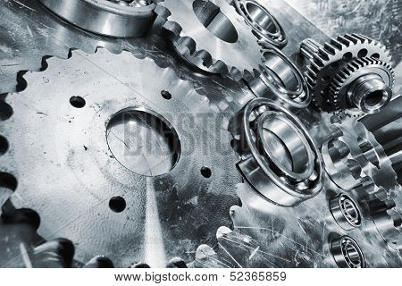 aerospace titanium and steel engineering gears and cogs,