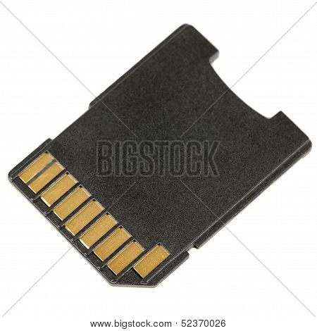 Micro SD Card Adapter Isolated On White Background
