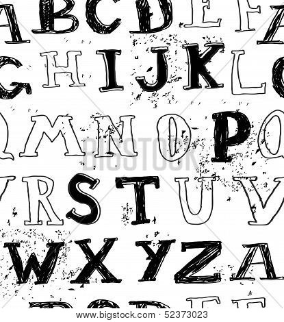 Seamless Grungy English Alphabet