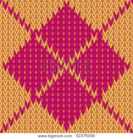 vector knitting seamless background: argyle pattern
