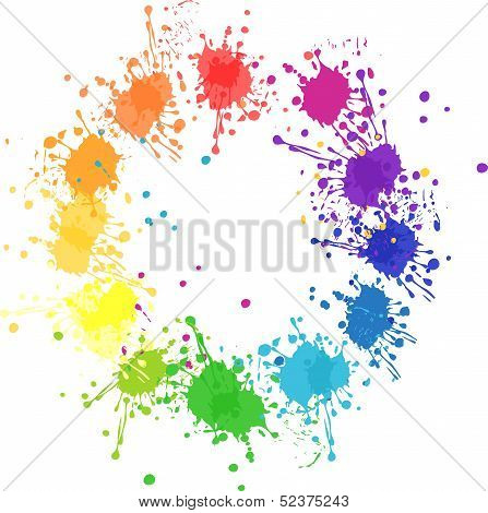 Vector Color Wheel With Flat Colors Without Transparency