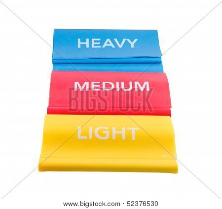 Heavy, Medium, Light Resistance Bands