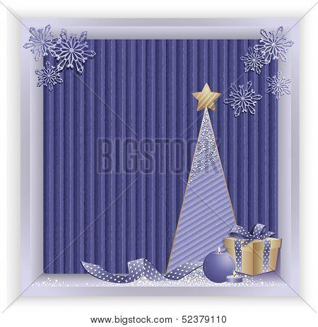 Christmas Eco Backround Blue