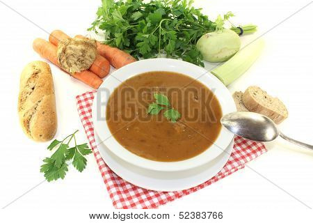Oxtail Soup With Parsley