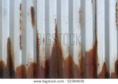Corrugated Rusting Metal