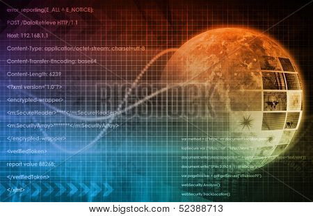 Technology Background as a Digital Abstract Art