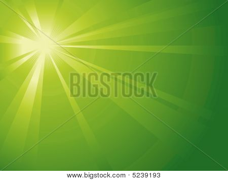 Asymmetric Green Light Burst
