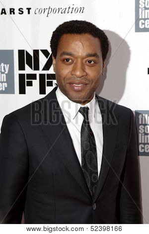 NEW YORK- OCT 8: Actor Chiwetel Ejiofor attends the