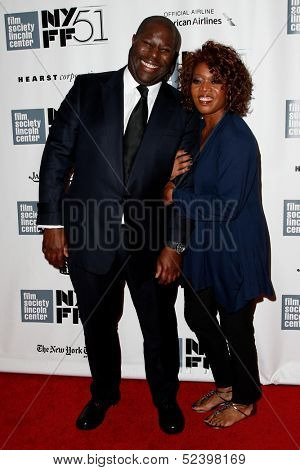 NEW YORK- OCT 8: Steve McQueen (L) and actress Alfre Woodard attend the