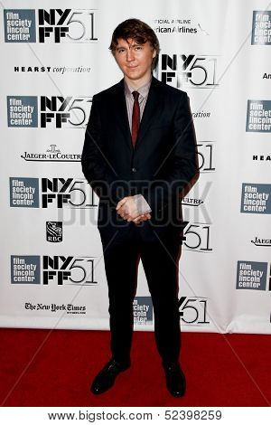 NEW YORK- OCT 8: Actor Paul Dano attends the