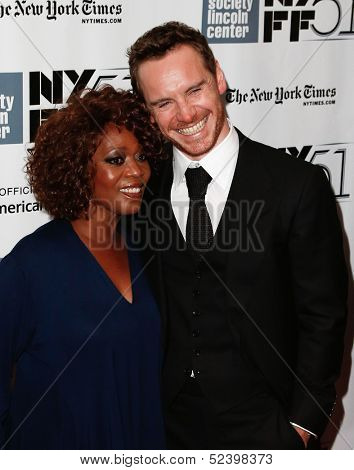 NEW YORK- OCT 8: Actors Alfre Woodard (L) and Michael Fassbender attend the