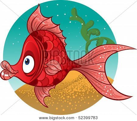 red fish. vector