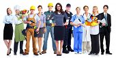 stock photo of nurse uniform  - Group of employee people - JPG