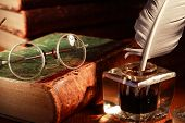 picture of inkwells  - Vintage still life - JPG