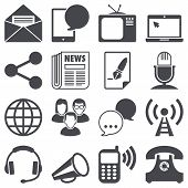 image of mass media  - Set of communication icons - JPG