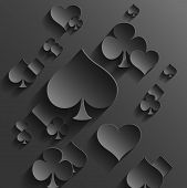 stock photo of rhombus  - Abstract Vector Background with Playing Cards Elements - JPG