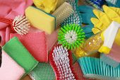 picture of cleaning agents  - Items for cleaning the house - JPG