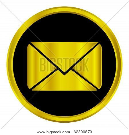 Gold Mail Sign Button