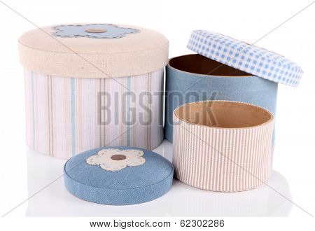 Decorative boxes isolated on white