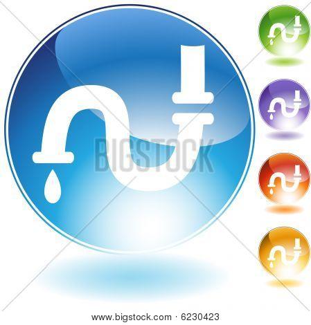 icono de cristal del tubo