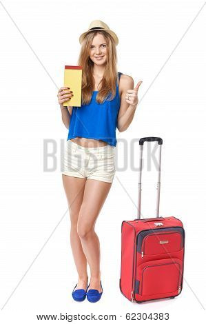 Funky girl  traveler