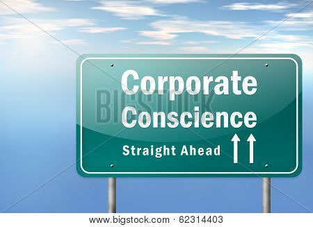 Highway Signpost Corporate Conscience