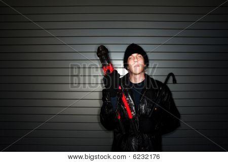 Burglar With Crowbar