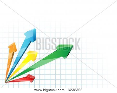 Business arrow background