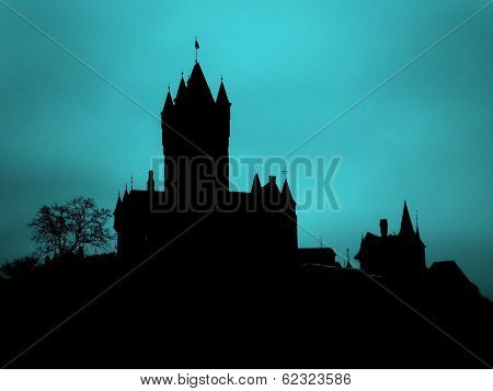 Haunted Castle Silhouette Germany