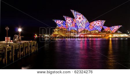 Sydney Opera House during Vivid Festival