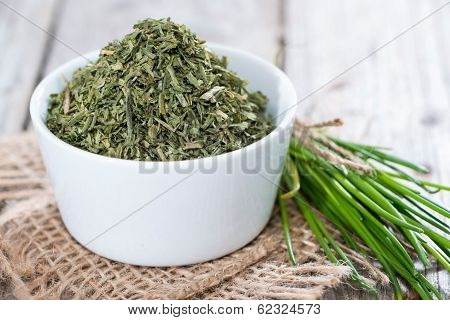 Portion Of Dried Chive (in A Bowl)