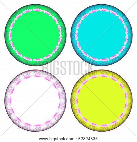 Pink Marvel Of Peru Circle Frame