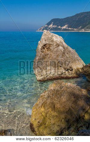 Saint Nikitas tourist resort in Lefkas Greece