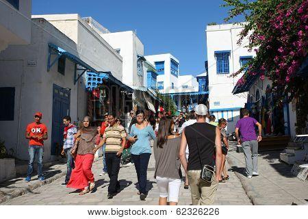 Sidi Bou Said Tourists