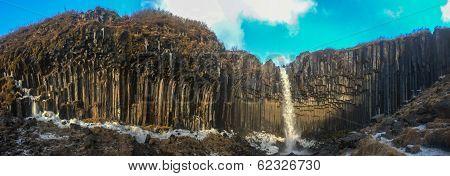Svartifoss (black Falls) Panorama