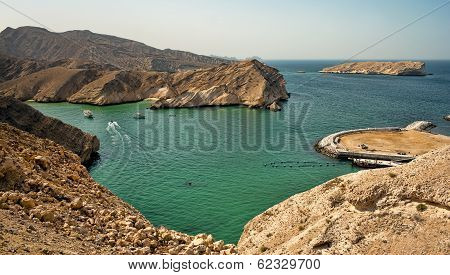 Beautiful beach in Muscat, Oman
