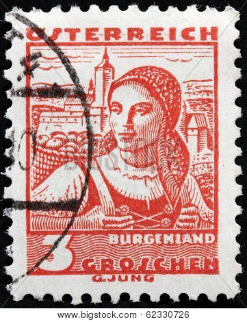 Burgenland Woman Stamp