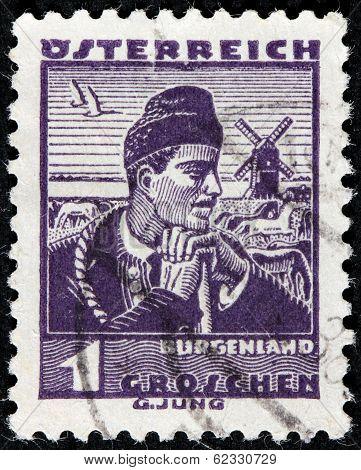 Burgenland Man Stamp