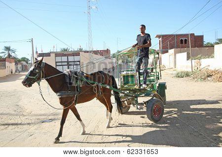 Muslim Worker In Oasis
