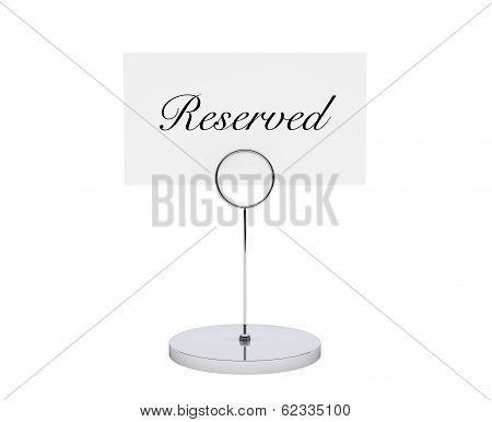 Note Paper Card Holder With Reserved Sign
