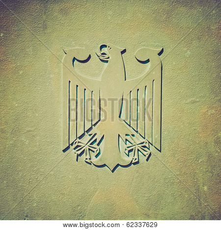 Retro Look Germany Coat Of Arms